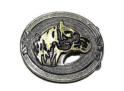 Fivela Cavalo Crioulo - Ouro Velho - 40 mm