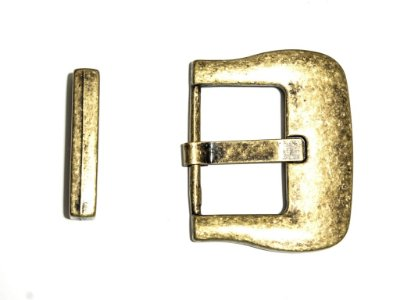 Fivela Fivelão com Passador - Ouro Velho - 45mm