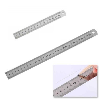 Régua de metal 15cm / 30cm