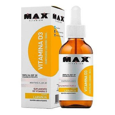Vitamina D3 - 30ml - Max Titanium (sabor laranja)