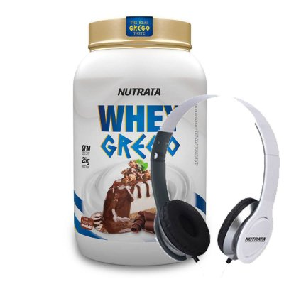 Whey Grego 900g + Fone de Ouvido - Nutrata