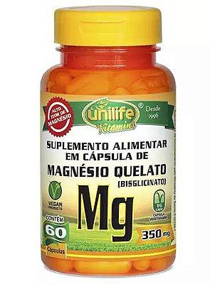 Magnésio Quelato Mg - 60 caps - Unilife