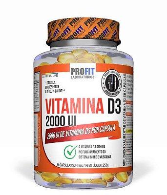 Vitamina D3 2000UI Oleosa - 60 caps - ProFit