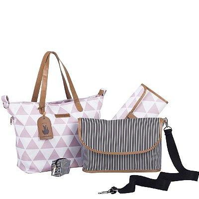 Bolsa Maternidade Masterbag Sofia 4 em 1 Manhattan | Cor: Rosa