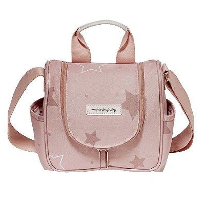 Frasqueira Maternidade Térmica Masterbag Emy Estrelas | Cor: Rose