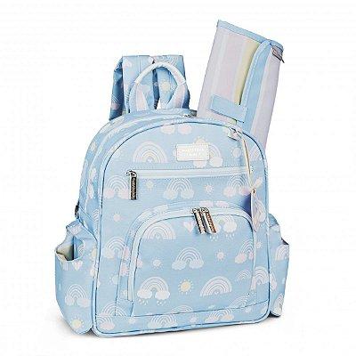 Mochila Maternidade Noah Arco-íris Masterbag | Cor: Azul
