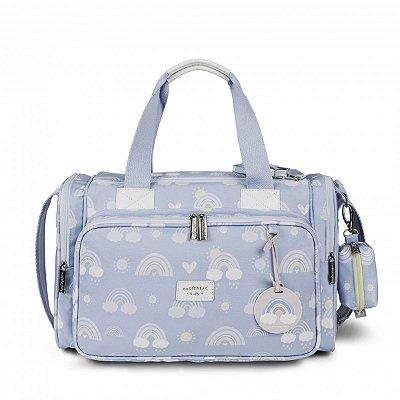 Bolsa Maternidade Anne Com Bolso Térmico Arco-íris Masterbag | Cor: Azul