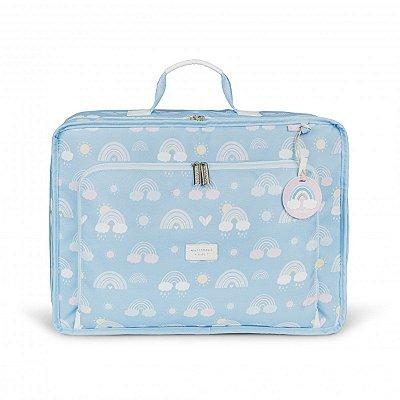 Mala Maternidade Vintage Arco-íris Masterbag Azul | Cor: Azul