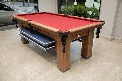 Mesa de Bilhar Hobby Vintage com Tampo de Ping Pong