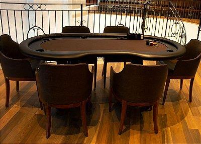 Mesa de Poker Torres com Borda Estofada