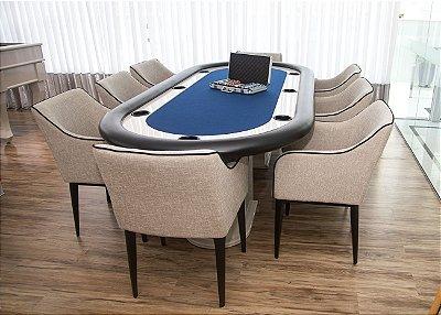 Mesa de Poker Master com Borda Estofada e Pintura Alto Brilho