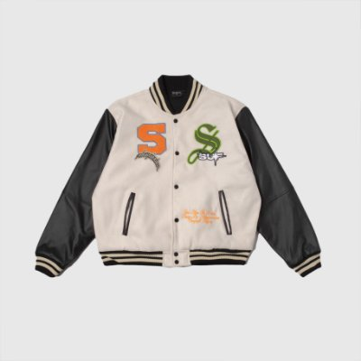 Jacket Sufgang Varsity College Off White