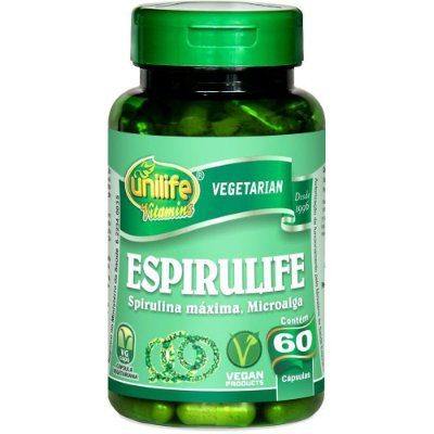 Espirulife Spirulina 500mg 60 Cápsulas Unilife