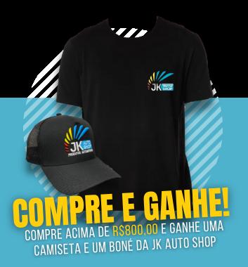 COMPRE E GANHE BONE E CAMISETA JK