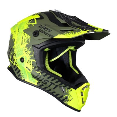 Capacete Just 1 J38 Mask - Amarelo Flúor/Preto/Verde