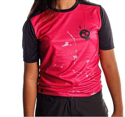 Camisa Nomad Grom Pink Skull