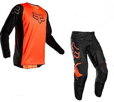 Conjunto Calça + Camisa FOX 180 PRIX 2020 - Laranja