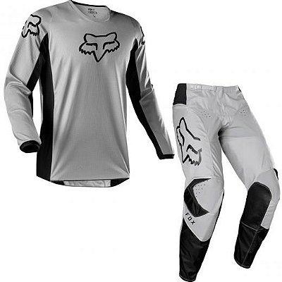 Conjunto Calça + Camisa FOX 180 PRIX - Cinza