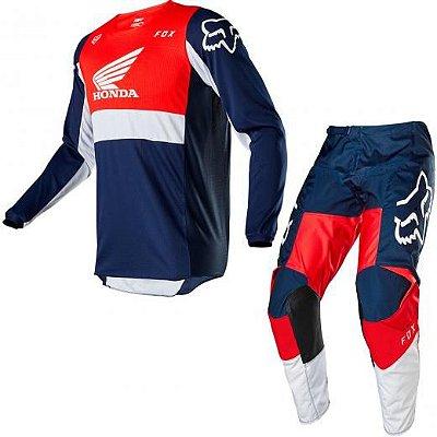 Conjunto Calça + Camisa FOX 180 HONDA