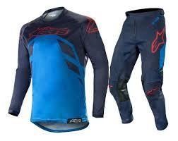 Conjunto Calça + Camisa ALPINESTARS RACER TECH COMPASS - Azul