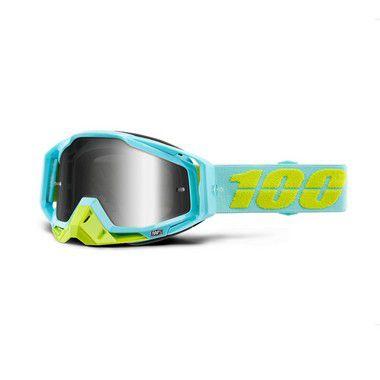 Óculos 100% Racecraft - Azul Ciano/Verde