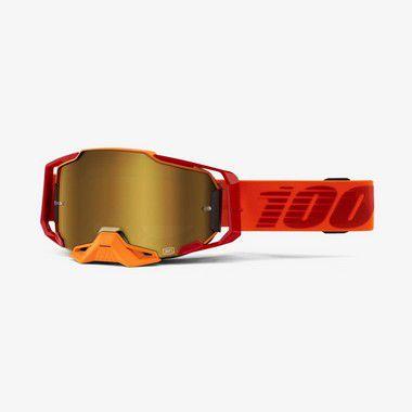 Oculos 100% Armega - Lente Espelhada - Laranja