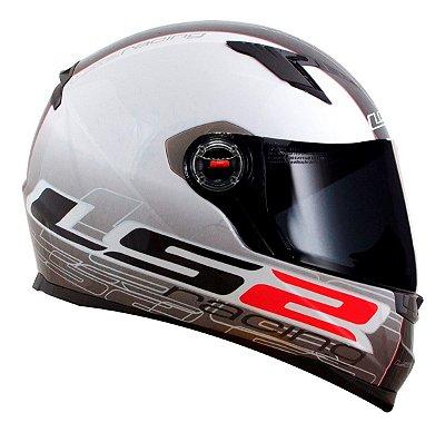 Capacete LS2 FF358 Racing - Branco