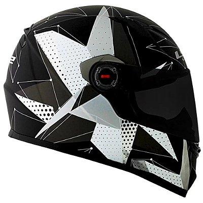 Capacete LS2 FF358 Brilliant - Preto Fosco/Titanium