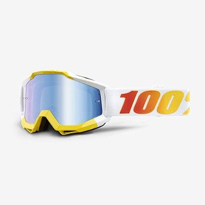Óculos 100% Accuri  - Amarelo/Branco