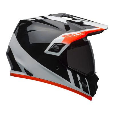 Capacete Bell MX9 Adventure Mips - Preto/Branco/Laranja