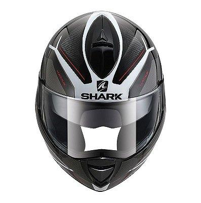 Capacete SHARK EVOLINE 3 Hataum Articulado - Preto/Cinza