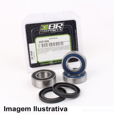 Rolamento de Roda Dianteira Yamaha XTZ 250 07-12 + Rolamento de Roda Traseira KLX140 08-19 + KLX140G 17-19 + KLX140L 08-19 + KX100 98-19 + KX80 98-00 + KX85 01-19 + Suzuki RM100 03