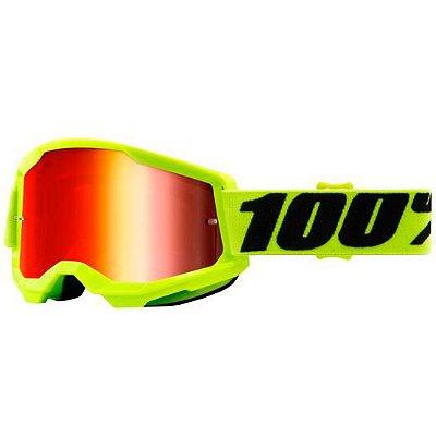 Óculos 100% Strata 2 Yellow Lente Espelhada