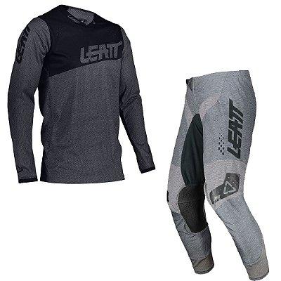 Conjunto Calça + Camisa Leatt Moto 4.5 - Cinza Brushed