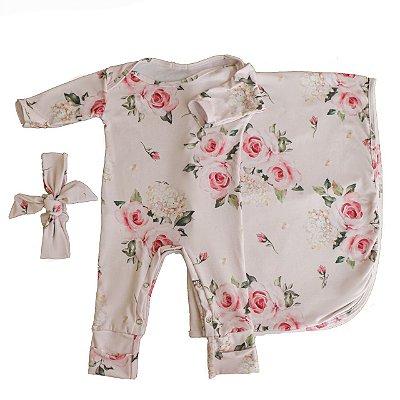 Saída Maternidade - Floral Rosa (Casulo)