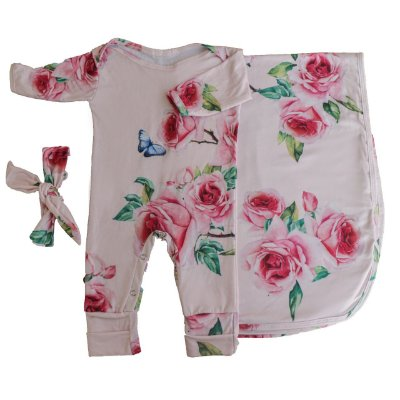 Saída Maternidade - Floral Rosa (Pra Florir)