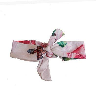 Faixa De Cabelo - Floral Rosa (Pra Florir)