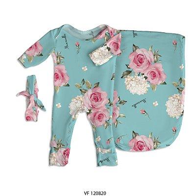 Estampa  Floral Tiffany (Casulo) personalizada com o nome do bebê