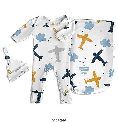 Estampa aviãozinho personalizada com o nome do bebê