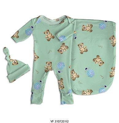 Estampa ursinho personalizada com o nome do bebê