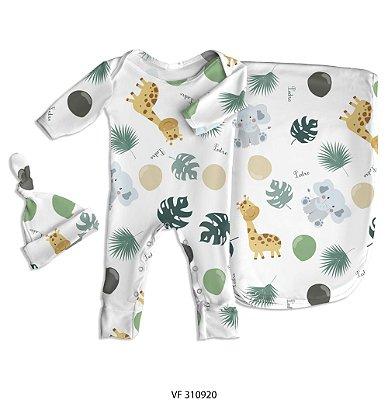 Estampa savana personalizada com o nome do bebê