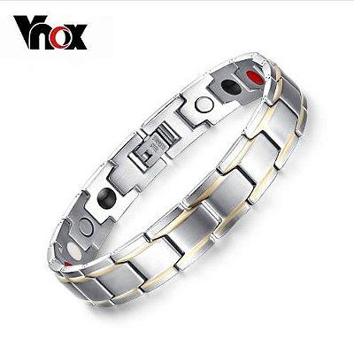 Pulseira VNOX Trendy Unisex Magnética