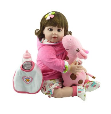 Bebê Reborn Vinil Silicone Boneca Adora Doll