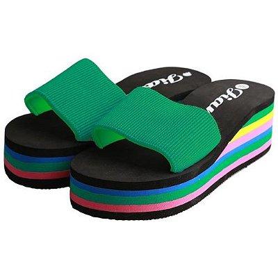 Sandália de Praia Moda Verão Rainbow Slides