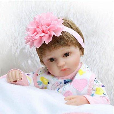 Boneca Reborn de Silicone 42 cm de 18 Polegadas