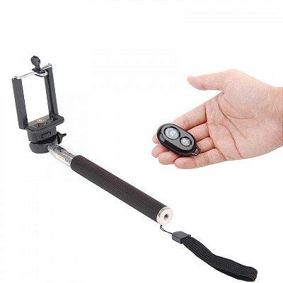 Bastão Selfie Monopod + Controle Remoto Bluetooth  Frete Grátis