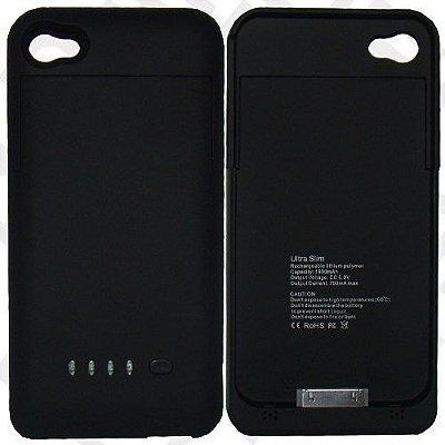 Capa Com Bateria Extra Recarregavel Preto Iphone 6. 6000mAh