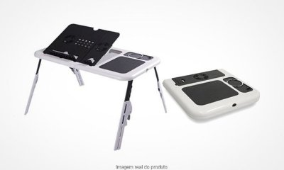 Mesa para Notebook E-Table com Cooler Duplo .