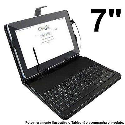 Teclado Portátil USB p/ Tablet com Capa