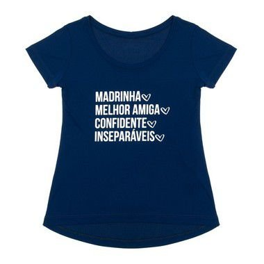 Camiseta Madrinha cor azul